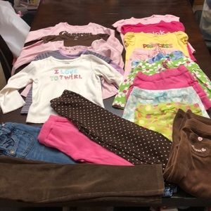 Lot of 19 mostly Gymboree clothing. Girls 5/5T